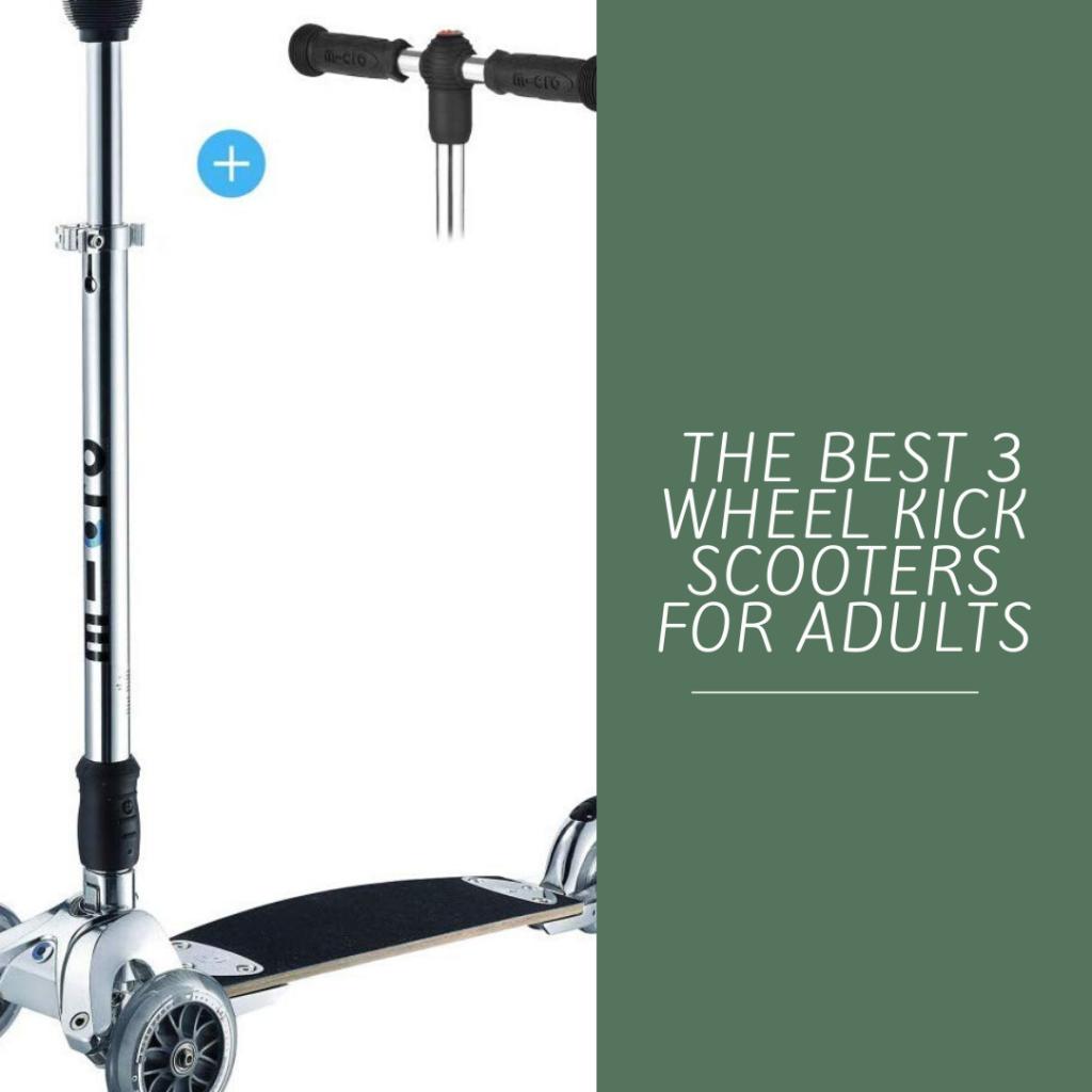 Three wheel adult push scooter